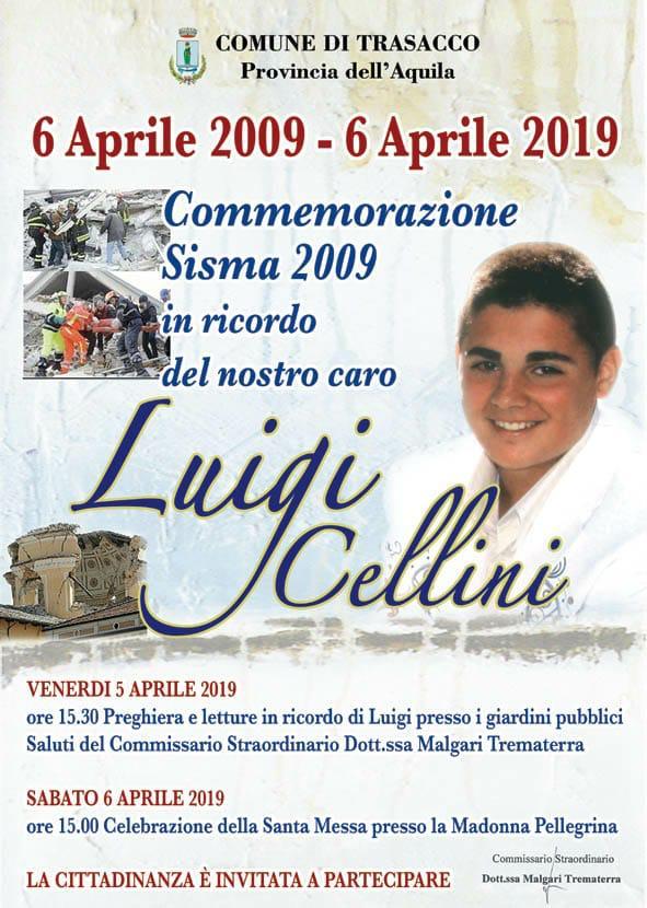 Commemorazione sisma del 6 aprile 2009 - ricordo del nostro caro Luigi Cellini